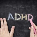ADHD writting in chalk