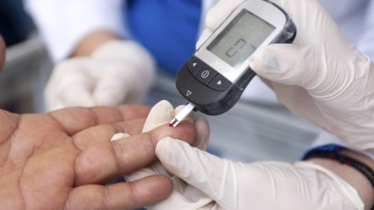 Compared with insulin glargine, dulaglutide led to lower HbA1c levels in patients with diabetes.