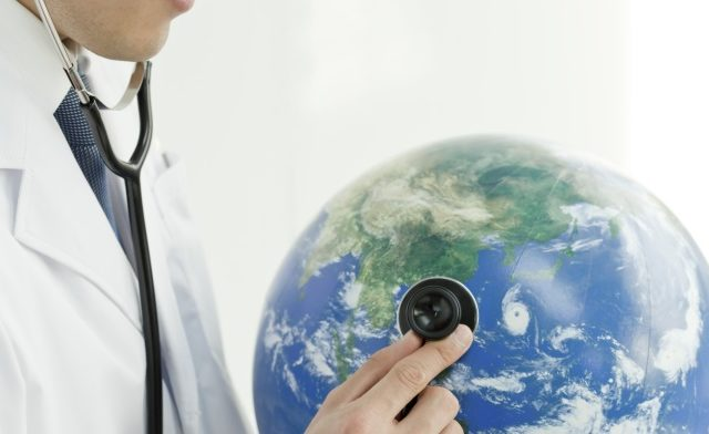 Doctor and globe