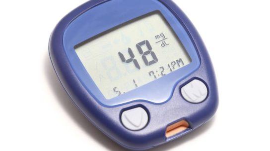 Low blood sugar level on glucometer