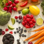 An array of healthy foods.