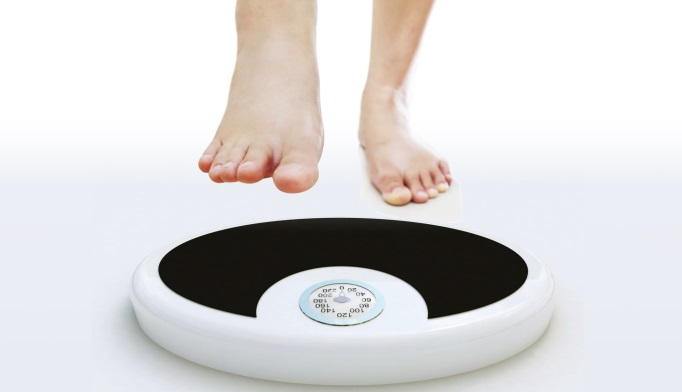 Stepping onto a scale