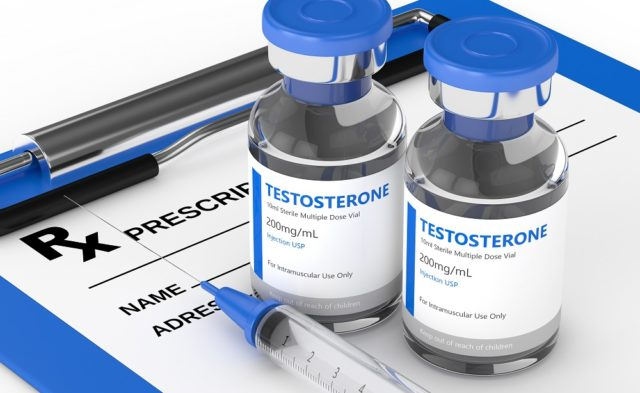 Testosterone injection vials