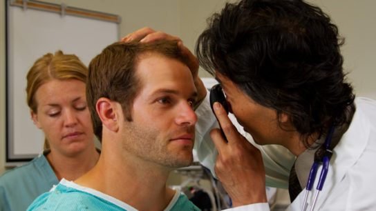 A patient experiences vision changes after bariatric surgery