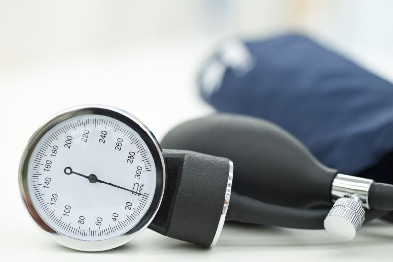 A blood pressure gauge