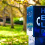 help phone on college campus