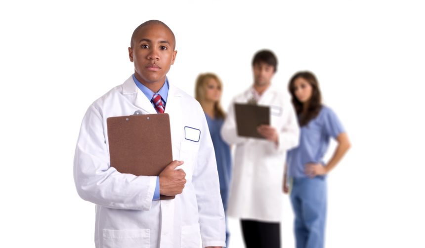 Diverse group of doctors and Nurses