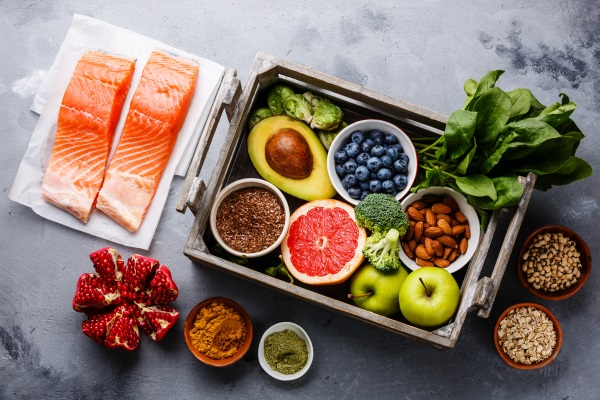 The Dietary Approaches to Stop Hypertension (DASH) diet emphasizes portion size, eating a variety of foods, and reducing sodium intake, while increasing potassium, calcium, and magnesium. While the diet is intended to help treat and prevent high blood pressure, it also reduces the risk of other diseases including diabetes. Foods in this diet include: fish, poultry, fruits, vegetables, beans, nuts, seeds, and whole grains. Dairy is allowed as long as it is low-fat or fat free. Sweets and red meat should be limited.