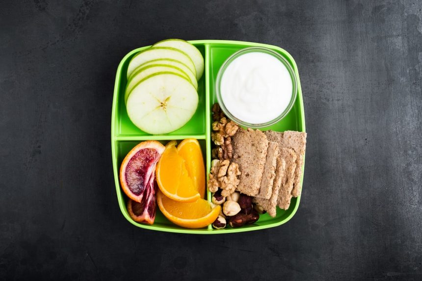 healthy foods in snack box