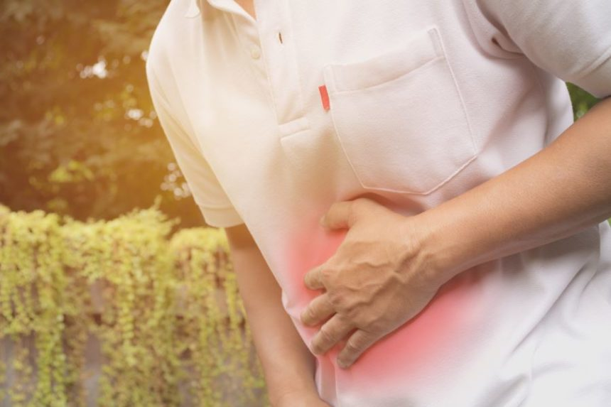 A man experiencing stomach pain