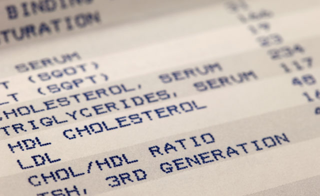 cholesterol blood test