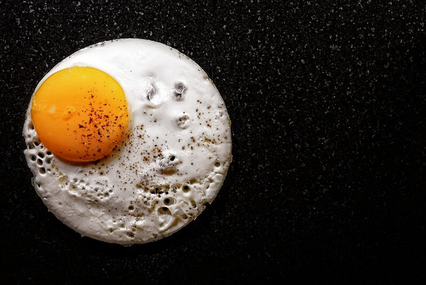 fried egg, cholesterol