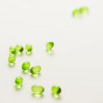 gel capsules, vitamin e, green capsules