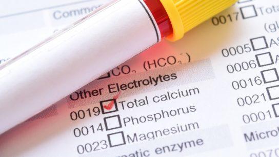 Blood sample for calcium test