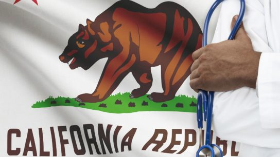 California state flag health care concept