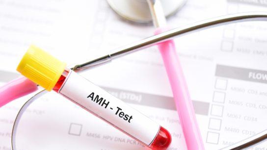 Blood sample tube for anti-Müllerian hormone or AMH test